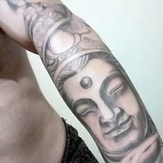 Buda em construção... Aguardando pintar...#tattoo #budha #budatattoo