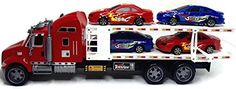Power Trailer Transporter Racing Truck Ready to Run with 4 Sports Car * Read more  at the image link.