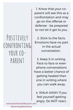 Easy tips for keeping your end of the conversation positive and productive. - Easy tips for keeping your end of the conversation positive and productive. Step Parenting, Parenting Plan, Single Parenting, Parenting Quotes, Parenting Hacks, Parenting Styles, Parallel Parenting, Child Custody, Positive People