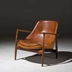 Ib Kofod-Larsen | Danish, Elizabeth leather Chair | 1956