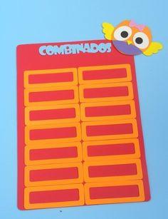 painel de combinados Coruja para sala de aula www.petilola.com.br