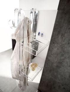 Portaoggetti 2 piani da appendere 2 level accessories holder with hanging mount