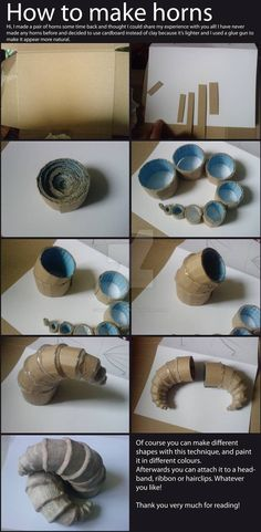 How to make horns from cardboard and hot glue. How to make horns from cardboard and hot glue. How to make horns from cardboard and hot glue. The post How to make horns from cardboard and hot glue. appeared first on New Ideas. Halloween Prop, Halloween Costume Accessories, Halloween Cosplay, Halloween Crafts, Halloween Makeup, Homemade Halloween, Male Halloween Costumes, Dragon Halloween, Zombie Costumes