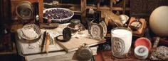 """Artisanl look, rustic touch, classic Diptyque chic in Top Christmas & Holidays Scented Gifts: http://fragrance.about.com/od/Best-of-Lists/tp/6-Most-Beautiful-Scented-Gifts-for-Christmas.htm from Fragrance.About.com   Diptyque """"Essences Incensees"""" collection"""