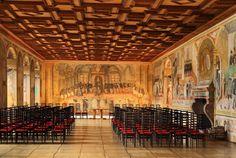 Vokův sál Manor Houses, Palaces, Castles, Painting, Palace, Chateaus, Painting Art, Paintings, Painted Canvas
