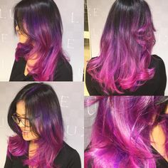 "luxeconceptsalondiary: "" @patrick.fri.z.2001 management stylist on #guy tang inspo with this #balayage and#pravana combo lifted hair from black to blonde the #pravana #wild orchid and ends #magenta #brighthairdontcare #sydneyhairdresser..."