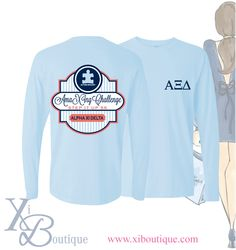 Alpha Xi Delta AmaXIng Challenge t-shirt! This is a custom order from Xi Boutique. Email custom@xiboutique.com to create your own custom shirt for an event.