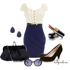 Vintage Work Attire, created by mayra-aguilera on Polyvore