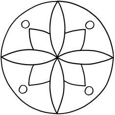 Mandalas zum Ausdrucken Mandala Dots, Mandala Pattern, Mandala Design, Dot Art Painting, Mandala Painting, Rangoli Patterns, Craft Patterns, Mandala Art Lesson, Hand Applique