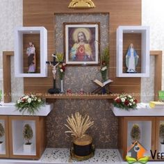 catholic home altar on a shelf! home altar ideas home altaraltar familiar, altar design, prayer corner, kerala houses, pooja rooms, plane