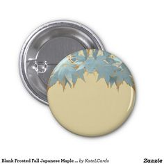 Blank Frosted Fall Japanese Maple Leaves Garland 1 Inch Round Button