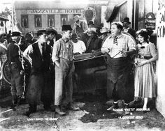 Buster Keaton, Al St. John, Roscoe Arbuckle & Alice Lake - A Counry Hero (1917)  The film is considered to be lost.