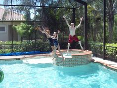 Crazy day in the pool!