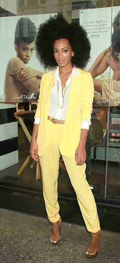 Solange Knowles. I love everything about this chick's effortless style. EVERYTHING.