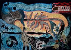Celebration (colour state) by Arone Meeks at Aboriginal Art Directory - Arone Meeks Australian Aboriginal Artist Aboriginal Culture, Aboriginal Artists, Australian Painting, Australian Art, Contemporary Decorative Art, Cobra Art, Art Brut, Found Art, Unique Paintings