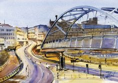 #Sheffield, #UK #Watercolour - 21cm x 30cm Jaroslaw Glod - http://www.artende.pl