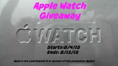 Apple Watch Giveaway – Sponsored by Lollipop and Lullaby!! (ends 8/13) .  http://africasblog.com/2015/08/05/apple-watch-giveaway/