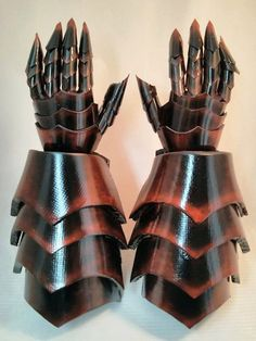 COMPLETELY CUSTOM MADE Plastic Costume Gauntlets Cosplay Armor