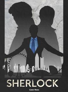 A Retro Poster of Sherlock series 3 Sherlock (BBC) Retro Poster Sherlock Poster, Sherlock Bbc, Sherlock Series, Benedict Cumberbatch Sherlock, Watson Sherlock, Jim Moriarty, Elementary Sherlock, Elementary My Dear Watson, Retro Poster
