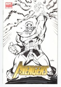 Thanos Avengers Sketch cover by ~Crazymic on deviantART