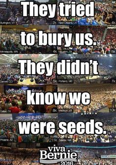 Money isn't speech, corporations are not people and Bernie Sanders is the only candidate who cares enough to fix this.  #FeelTheBern #NotMeUs