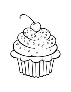 cupcake pictures free | Free Printable Cupcake Coloring Pages For Kids