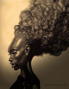 natural hair art - Google Search