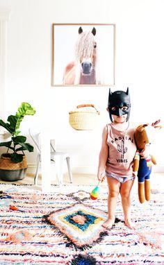 Bohemian playroom, little boy, @laurenpeelman