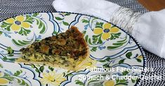 Spinach & Cheddar Quiche – Fabulous Fare Sisters Frozen Bag, Frozen Pie Crust, Frozen Spinach, Cooking Together, Cheddar Cheese, Quiche, Sisters, Stuffed Peppers, Fresh
