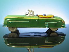 Vintage Japan Tin Litho Convertible Car Trade Mark Modern Toy Friction Auto | eBay #vintagetoys #cars #oldtoysandcollectables