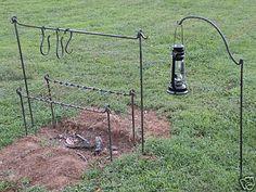 Iron Campfire Cooking Set, Civil War, Camp, Bug Out, Reenactor, Blacksmith | eBay