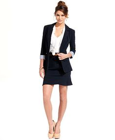 BCX Juniors Millenium Ruched Blazer & Millenium High-Waist Pencil ...