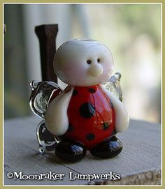 Ladybug+Fairy+Summer+Lampwork+Bead+by+moonrakerbeads+on+Etsy,+$11.50