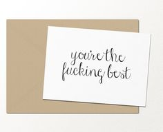 you're the fking best // funny greeting card // by palmettopaperco
