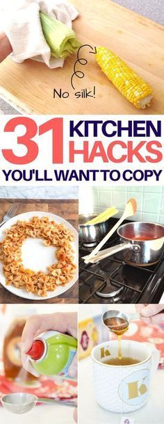 The BEST kitchen hacks! Kitchen tips & tricks that will make cooking easier and less messy. Life hacks every girl should know, cooking hacks, food hacks