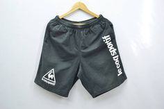 a0d54522d1a8 LE COQ SPORTIF Shorts Distressed Vintage Le Coq Sportif Big Logo Spell Out  Made In Japan Shorts Pants Size L