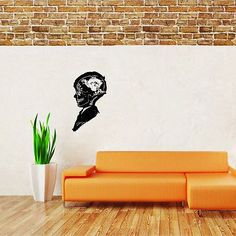 Wall Mural Vinyl Sticker Decal MAN SKELETON BRAIN DA967