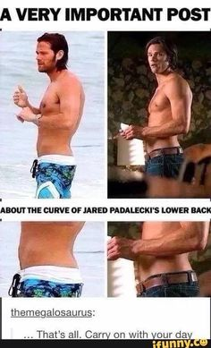 Jared Padalecki you stop that right now Jensen Ackles, Jensen And Misha, Jared Padalecki Supernatural, Supernatural Actors, Supernatural Quotes, Jared Padalecki Shirtless, Spn Memes, Supernatural Tattoo, Winchester Supernatural