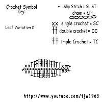 Crochet Leaf Variation 2