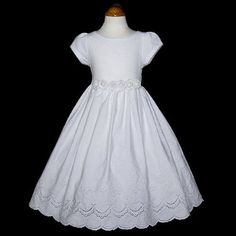 First Communion Dress....I think this is the one we are getting for Katie.  French Eyelet!  LOVE!!
