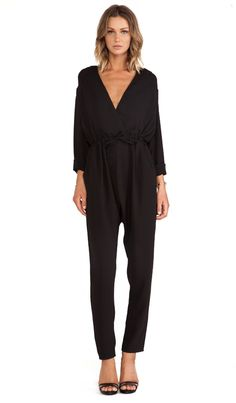 45166820a9f5 The Fifth Label Wildfire Jumpsuit in Black - perfect little jumpsuit for  fall!! Printed