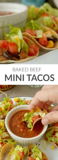 Classical beef mini tacos - perfect appetizers at dinner with friends in Patty's Cake Mini tacos de ternera, perfectos para el aperitivo con lo samigos.