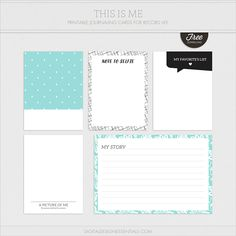 Free This is Me Journaling Cards | Weekly Photo & Story Prompt | Turquoise Avenue