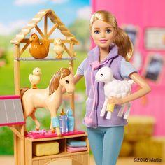 "🌸Pinterest @lauracindysuganda🌸 - Barbie (@barbie) on Instagram: ""With hard work and determination, #YouCanBeAnything, including a farm vet! 🐴 Shop the Barbie Farm…"""