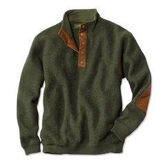 Orvis Boiled-Wool Snap-Front Pullover