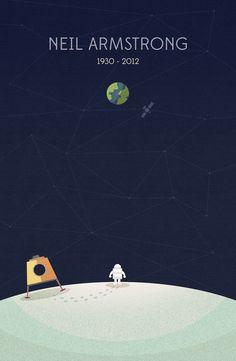 Sweet Art Tribute Dedicated to Neil Armstrong - My Modern Metropolis