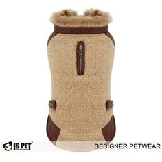 Brand: IsPet Outdoor dog wear. Soft fleece lining. Back leash hole with zipper opening. Convenient snap button closure.