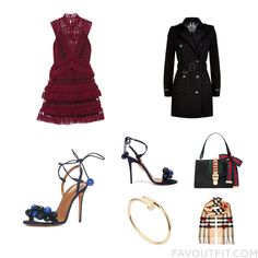 Style Inspirations Including Self-Portrait Dress Military Style Trench Coat Aquazzura Sandals And Navy Blue High Heel Shoes From December 2016 #outfit #look