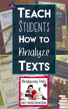 Teach your students to analyze fiction and nonfiction texts as well as print and visual texts using this gradual release process. Begin with direct instruction and scaffold students to independent practice using a wide array of engaging analysis activitie High School Classroom, English Classroom, Close Reading Lessons, Direct Instruction, 5th Grade Reading, Middle School Ela, High School English, Fiction And Nonfiction, Reading Workshop