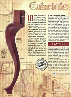 #3057 Making Cabriole Legs - Furniture Legs Construction
